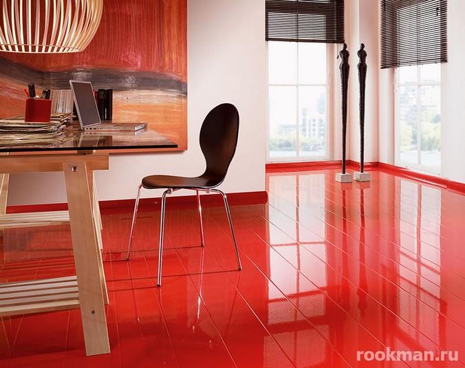 Фото красного ламината в интерьере