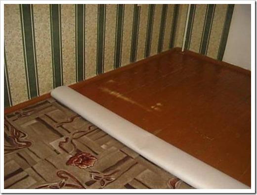 Как крепить ковролин к полу?