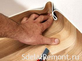 Укладка линолеума своими руками фото
