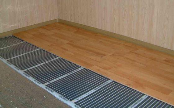 Инфракрасный теплый пол может использоваться под разные виды покрытия