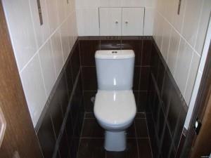 Фото уложенной кафельной плитки в туалете