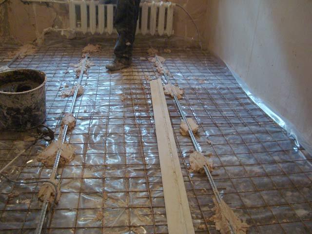 Стяжка с бетонной сеткой