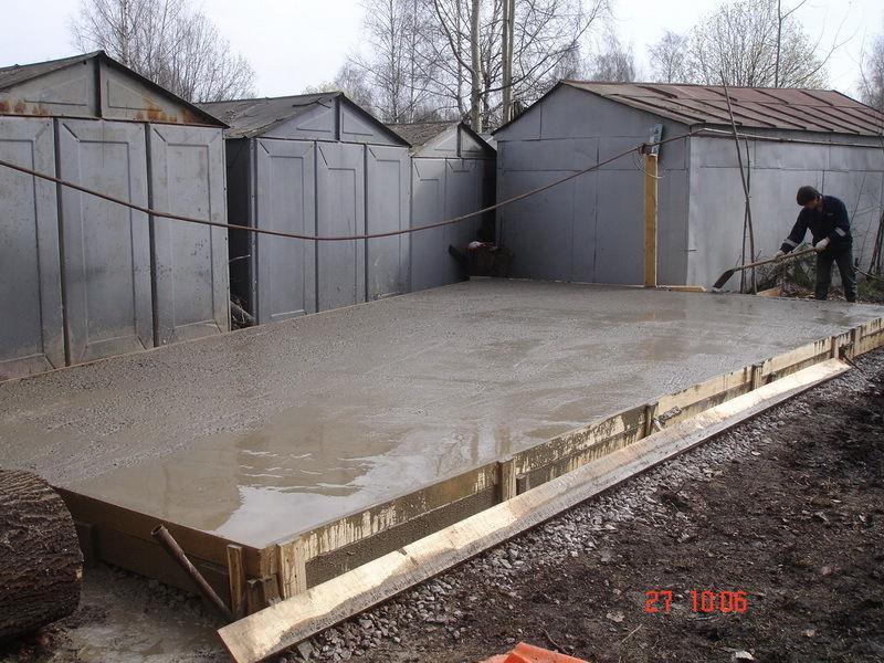 Основание гаража