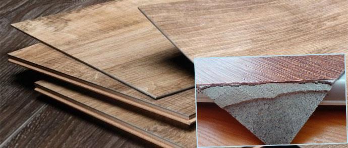 Стопка винилового ламината и его слои