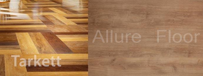 Виинловый ламинат Tarkett и Allure floor
