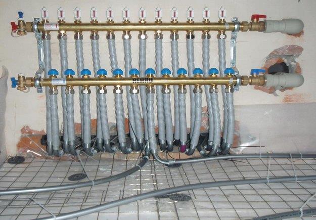 Подключение водяного теплого пола