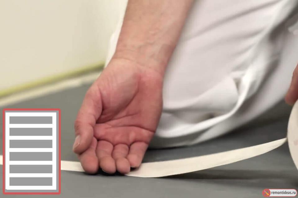 Как постелить ковролин с помощью двухстороннего скотча