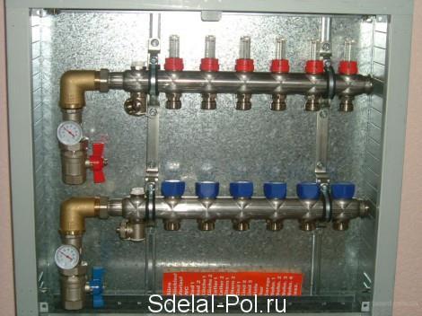 Распределительный коллектор водяного теплого пола