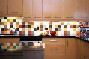 Разноцветная плитка в интерьере