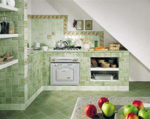 Как класть плитку на кухне
