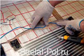 Подключение проводов терморегулятора