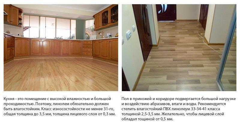 Фото: На кухне и прихожей укладывается прочное и износостойкое покрытие