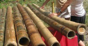 Изготовление бамбукового паркета