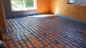 теплый пол в каркасном доме