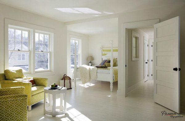 Светлый ламинат в интерьере в стиле прованс