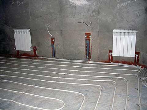 комбинированный теплый пол