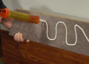 Как приклеить ламинат на фартук кухни