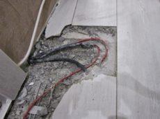 Сгоревший нагревательный кабель