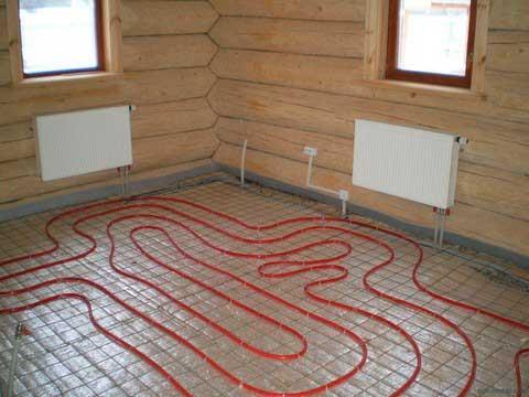 какой теплый пол постелить в дом из бруса
