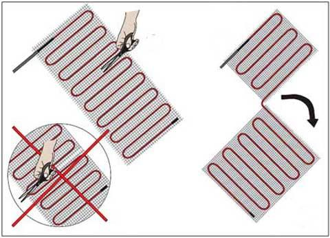 аккуратно разрезают по схеме