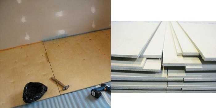 Для сухой стяжки лучше все-таки использовать ГВЛ — он безопасен на 100%