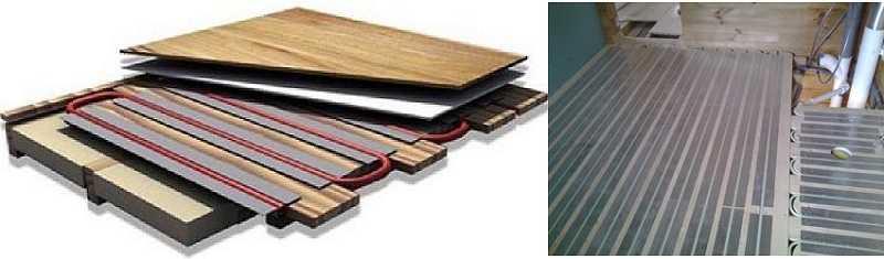 Водяной теплый пол можно расположить на деревянном