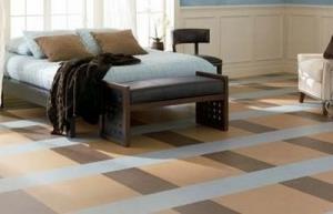 Удобный линолеум для спальной зоны