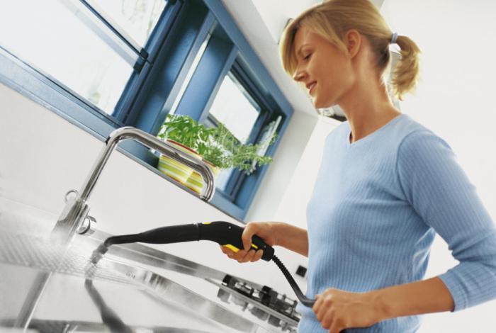 Мытье кухни парогенератором