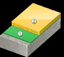 Пример полимерного напольного покрытия Disboxid