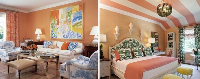 Какой цвет сочетается с персиковыми