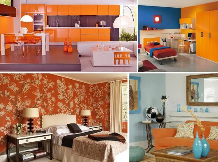 Какой цвет сочетается с оранжевыми