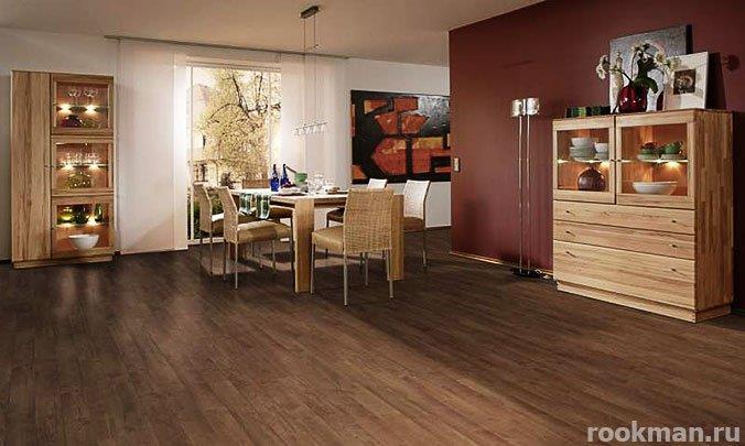 Ламинированное напольное покрытие в интерьере квартиры