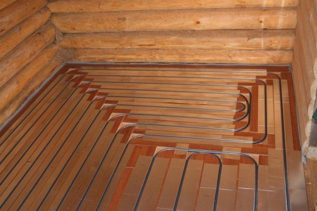 Теплый пол на деревянной основе