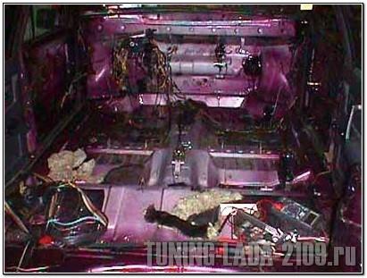 Салон ВАЗ 2109т в разобранном виде