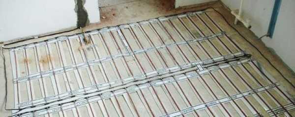 Так выглядит стержневой инфракрасный теплый пол перед укладкой плитки