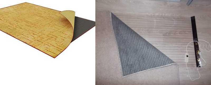 Мобильный инфракрасный пол - коврик с терморегулятором