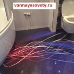 налийной пол в ванной как может выглядеть