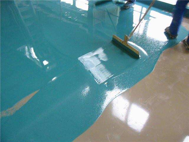Цветной наливной пол для ванны и кухни