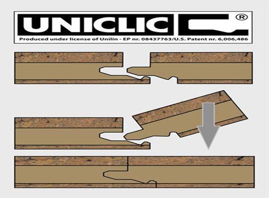 Замок типа Clic2Clic, Uniclic самый старый и хорошо проверен временем. Конечно укладка ламината с таким замком более трудоемка, но при определенной сноровке проблемы вряд ли возникнут.
