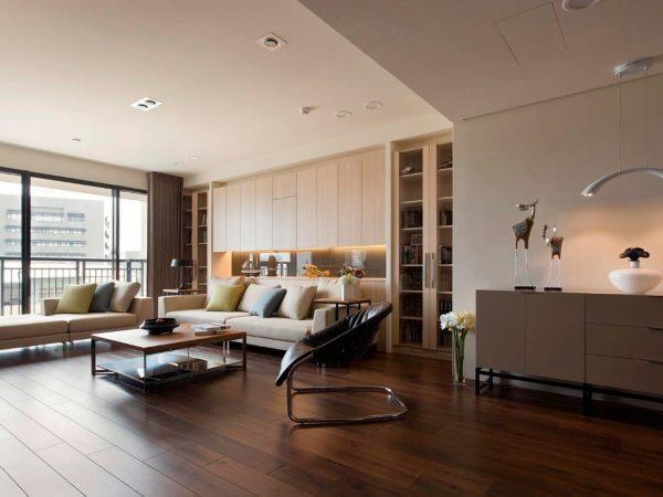 Темный ламинат в интерьере квартиры