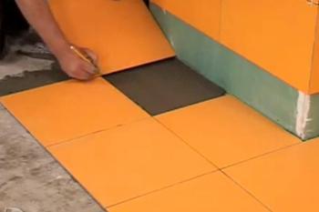 Этапы, операции укладки плитки на пол