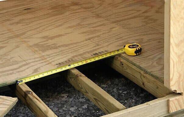 как сделать пол из дерева в гараже