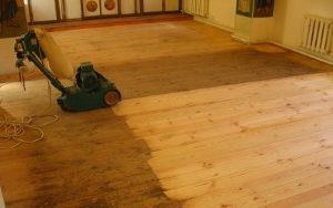Деревянный пол в гараж