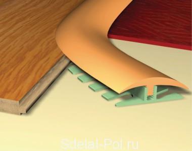 Пороги для криволинейных стыков типа Step Flex