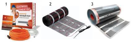 Виды электрического теплого пола