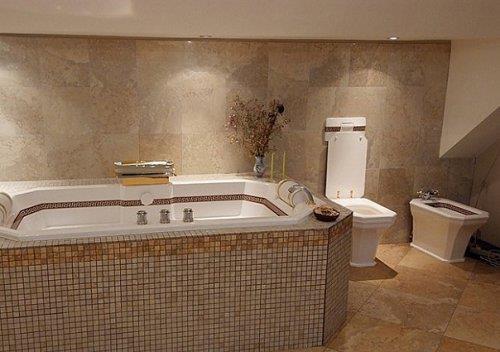 Образец ПВХ плитка для ванной комнаты