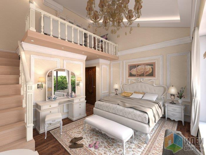 Светлые стены - темный пол, ковры несомненно придадут уют любой спальне!