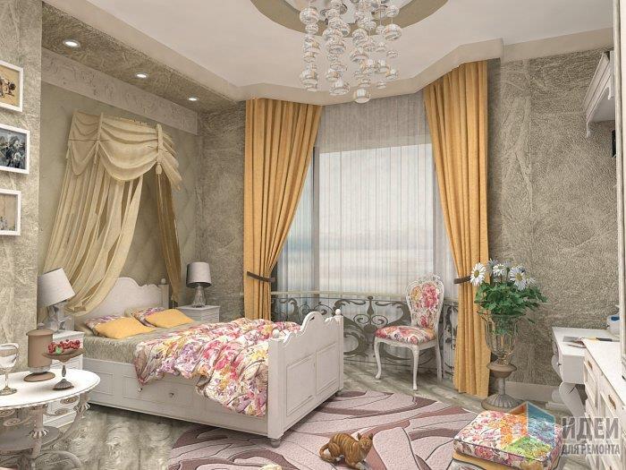 ПРимер того, как можно выдржать одним цветом стены и пол, при этом сделать классический интерьер достаточно ярким