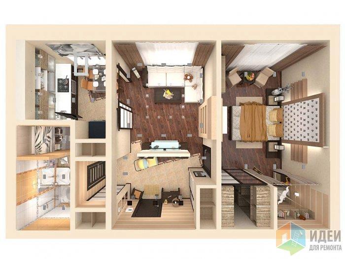 Обратите внимание: геометрия пола заданна под одинаковым кглом во всех помещениях квартиры, за исключением санузла иподсобных помещений, этот прием позволяет визуально расширить простраснтво, сделать его динамичнее и просторнее