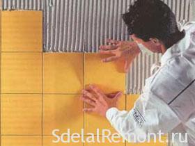 Укладка керамической плитки фото